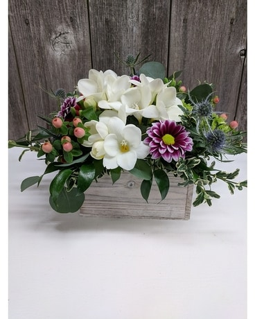 FBG's Spring Mix Box Flower Arrangement