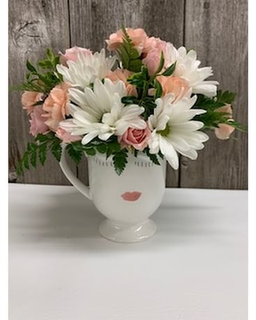 Selfie Mug Flower Arrangement