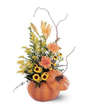 Pumpkin Delight - by Graceful Blossoms Flower Arrangement