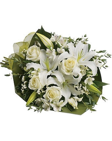 Rose Lily White Flower Arrangement