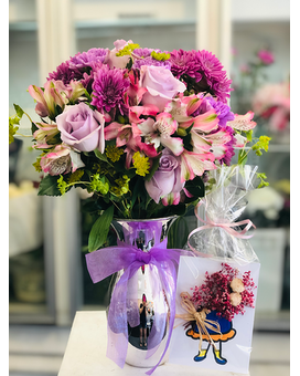 Sweet Purple Delight Flower Arrangement