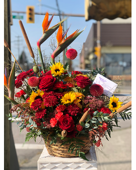 Festive Fall Flower Arrangement