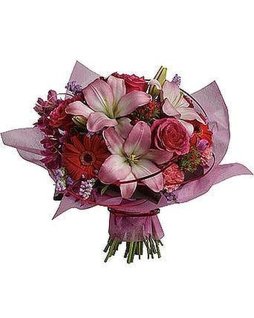Hand-Tied Bouquet - by Comox Flower Pot Flower Arrangement