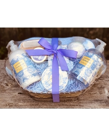 Lavender Spa Gift Set Gift Basket
