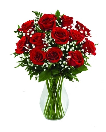 12 Roses Flower Arrangement