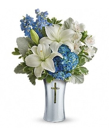 Teleflora's Skies Of Remembrance Bouquet Flower Arrangement