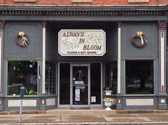 Store front of Always in Bloom in Coudersport PA
