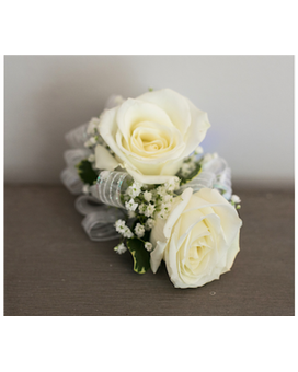 Rose Corsage with Babies Breath - $29.95 Flower Arrangement