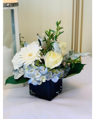 Lilie's Beautiful Blue Flower Arrangement