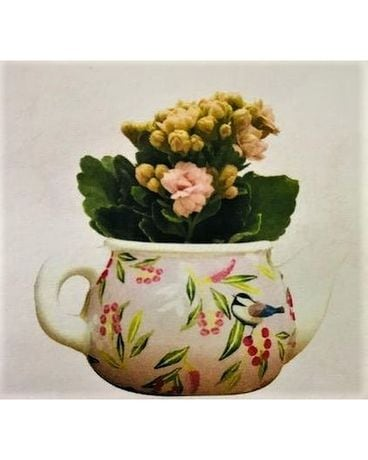 Mini Teapot Flower Arrangement