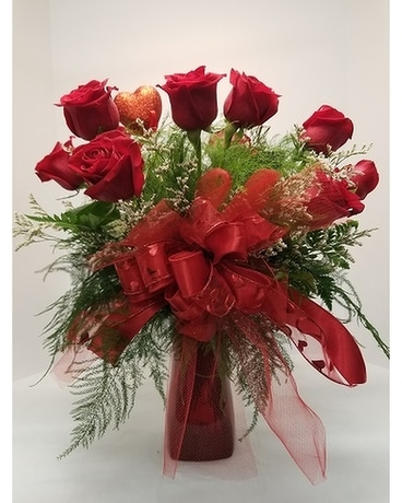 Dozen of Red Roses Flower Arrangement
