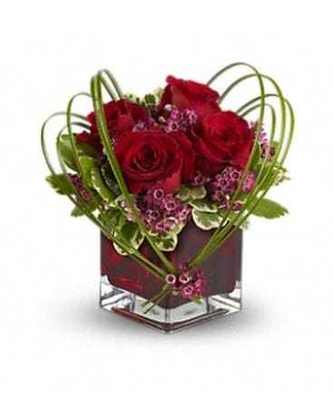 Teleflora's Sweet Thoughts with Red Roses Flower Arrangement