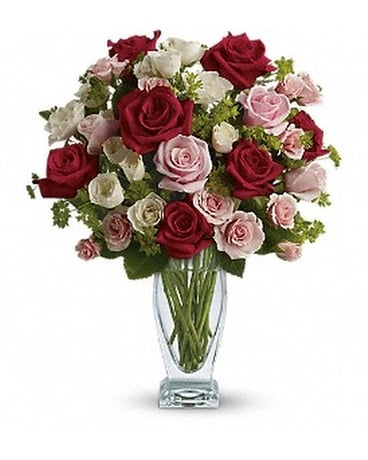 Cupid's Creation with Red Roses by Teleflora Flower Arrangement