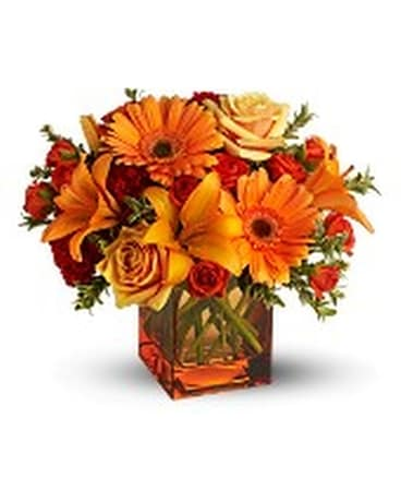 Sunrise, Sunset Flower Arrangement