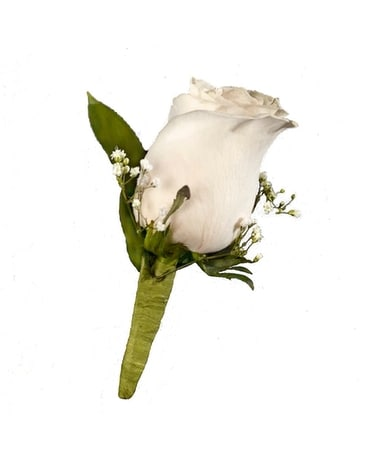Custom Rose Boutonniere