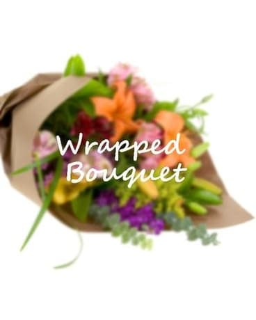 Wrapped Bouquet Flower Arrangement
