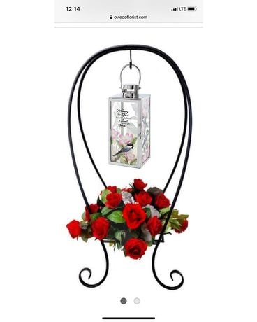 Life So Beautifully Lived Lantern Spray Funeral Arrangement