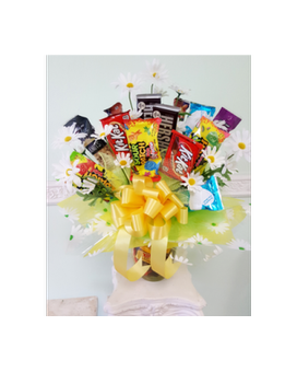 Crazy Daisy Candy Bouquet Flower Arrangement