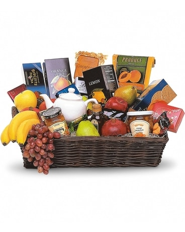 Grande Gourmet Fruit Basket Flower Arrangement