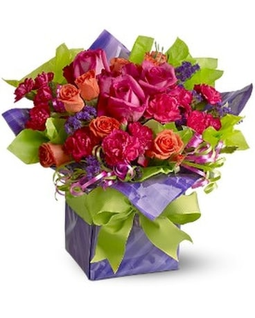 Teleflora's Party Time Present Flower Arrangement