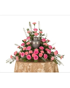 Roses & Carnations Urn Arrangement Flower Arrangement