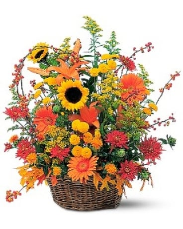 FALL WOODLAND BASKET Flower Arrangement