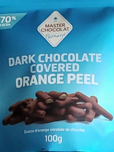 Dark Chocolate Covered Orange Peel by Master Choco