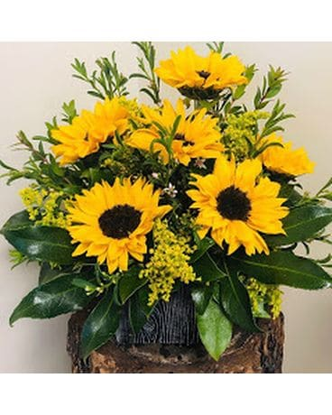 Bright Sunflowers Flower Arrangement