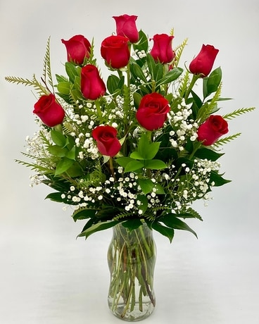 Dz Roses by Arrowhead Flower Arrangement