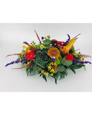 Oh Gourdy Centerpiece Flower Arrangement