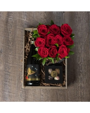 Bee Spoiled Champagne & Roses Crate