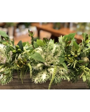 Green Garden Box Flower Arrangement