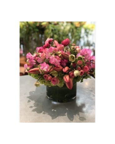 Pink Carousel Flower Arrangement