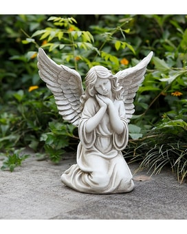 Garden Angel Statuary Flower Arrangement