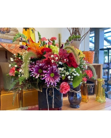 Autumn Square Flower Arrangement