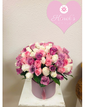 100 roses in a box Flower Arrangement