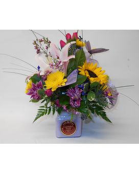 Flowers N Candle - 12 oz Custom product