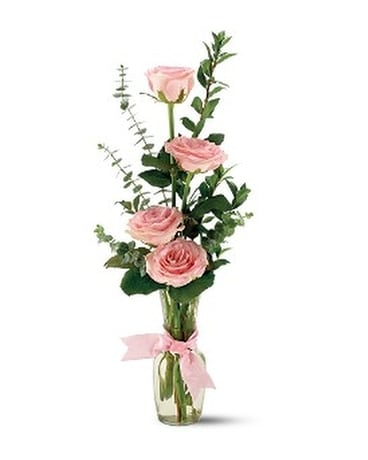 Teleflora's Rose Quartet Vase - by Cherryland Flor Flower Arrangement