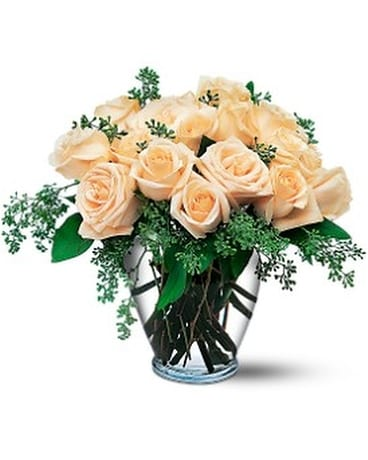 White Roses - by Cherryland Floral & Gifts, Inc. Flower Arrangement