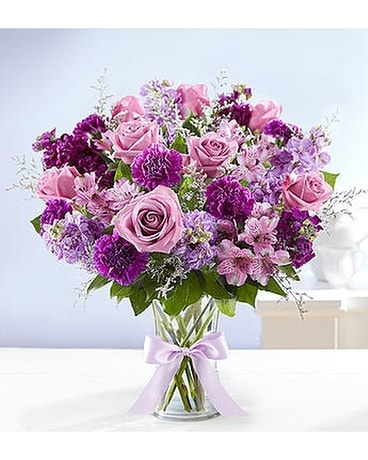 Shades of Purple - by Heart & Home Flowers Flower Arrangement