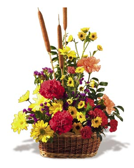 Crazy For Cattails Flower Arrangement
