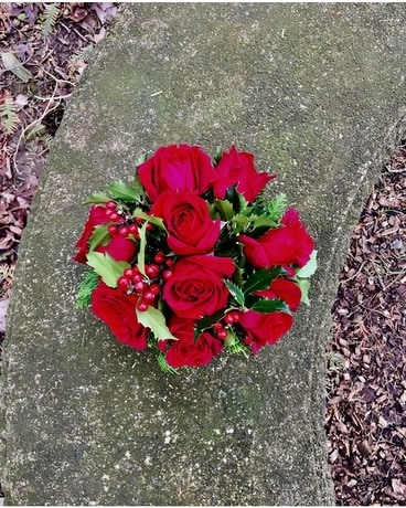 Holly's Holiday Flower Arrangement