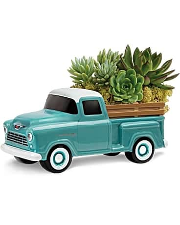 Perfect Chevy Pickup Flower Arrangement