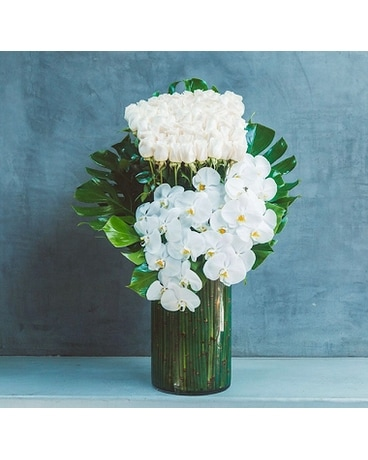 50 white rose bouquet Flower Arrangement