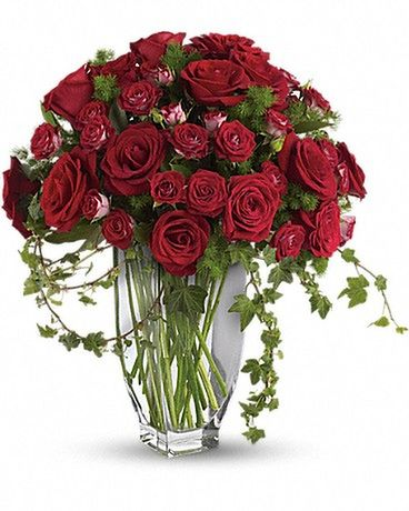 Teleflora's Rose Romanesque Bouquet - Red Roses Flower Arrangement
