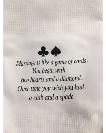 Marriage Is Like A Game of Cards Gifts