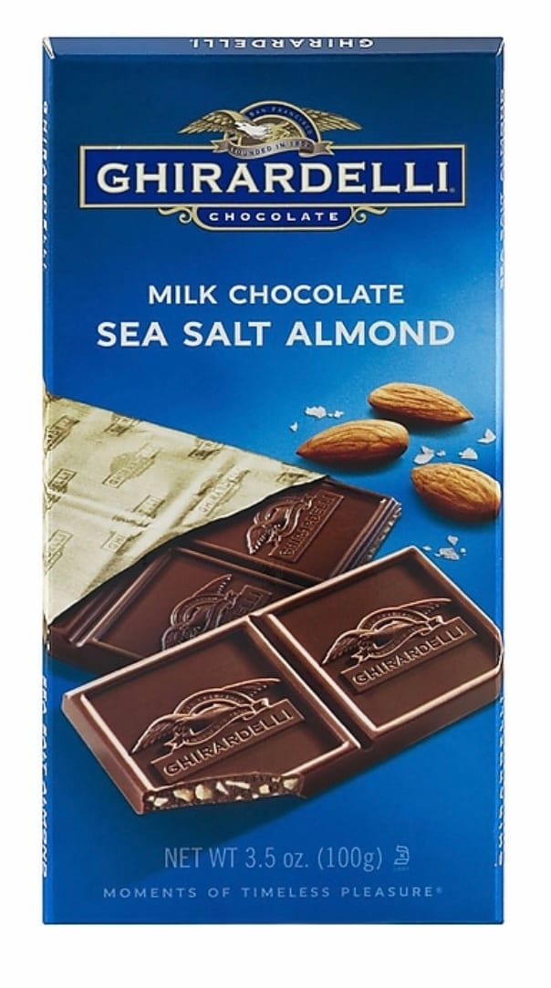 Ghiradelli Milk Chocolate Sea Salt Almond Bar