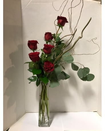 Stylish Six Flower Arrangement