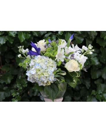 Blushing Blues Flower Arrangement