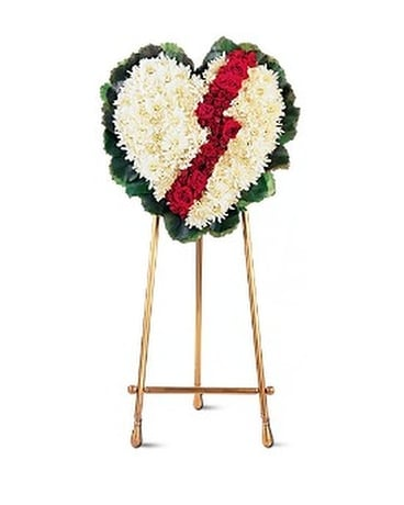 Broken Heart Flower Arrangement